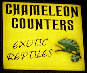 Chameleon Counters Sign